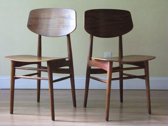 set of four oak teak danish dining chairs by borge mogensen in rh pinterest com