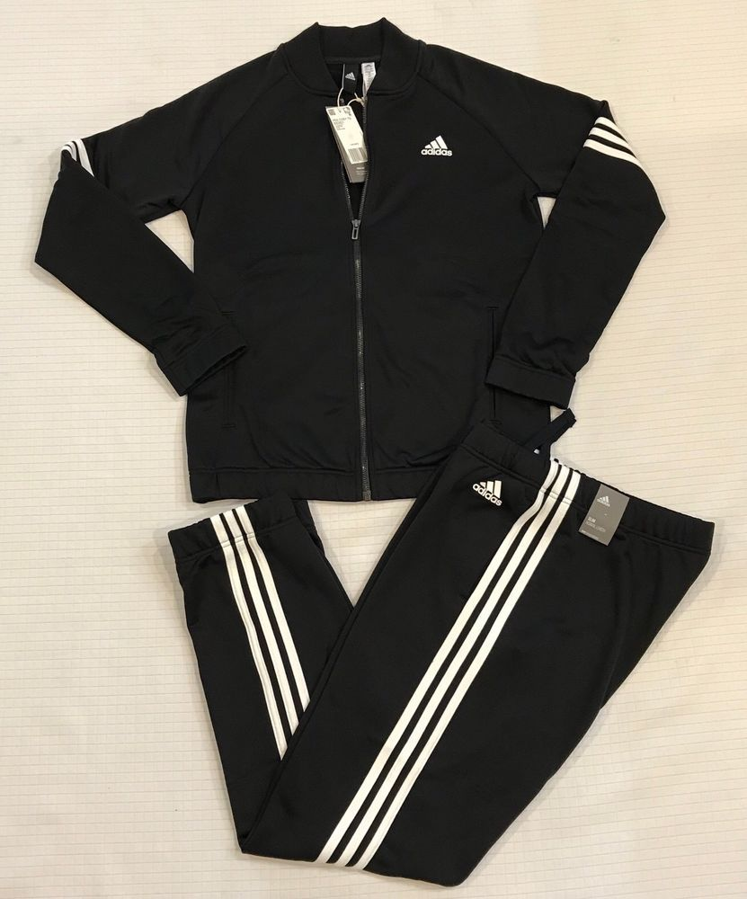 5e0210ac3cd5 Adidas Women s Track Suit Cozy Set TS Training 3-Stripes Black Gym, Size   Small  adidas  TrackSuit