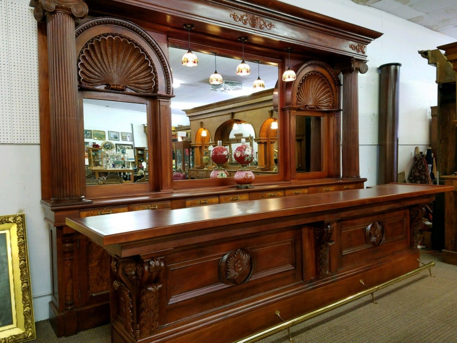 antique back bar front bar 15ft backbar mahogany from boston rh pinterest com