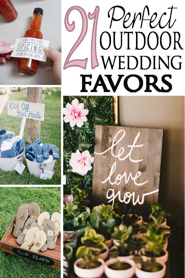 wedding favors ideas do it yourself%0A DIY wedding    Great guest favor ideas for you outdoor wedding