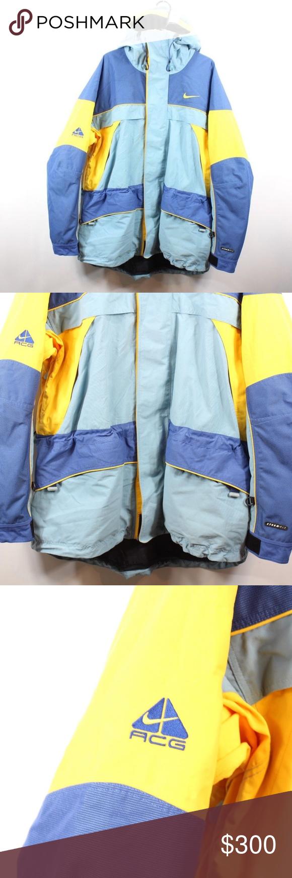 197e1642256d8 Vintage Nike ACG Color Block Hooded Parka Jacket L Vintage 90s Nike ...