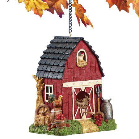 country red barn birdhouse bird houses and feeders rh pinterest com