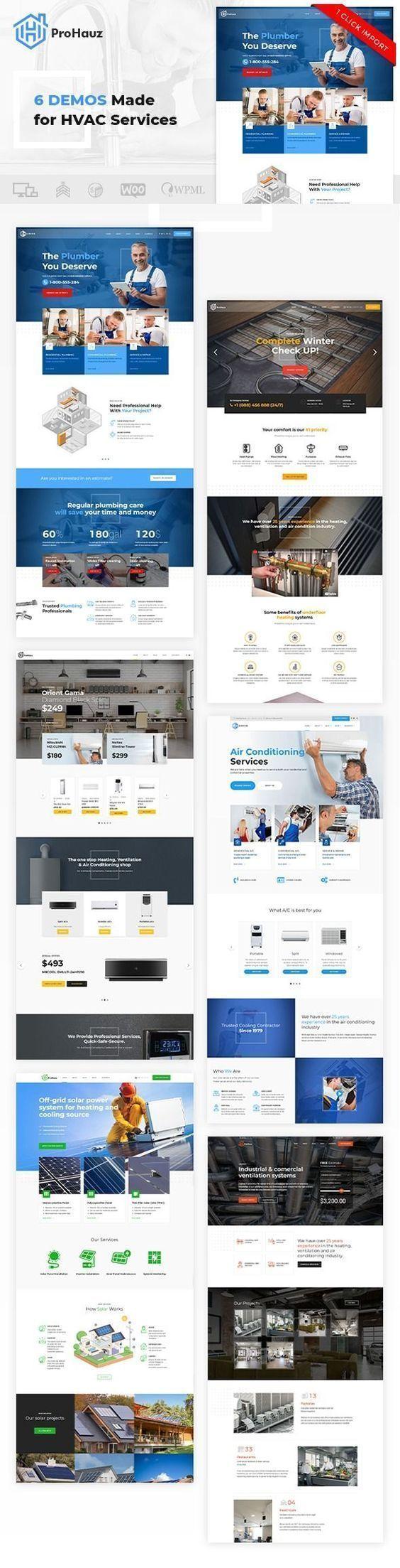 Prohauz Handyman Plumber Wellness Design Wordpress Theme Wp Themes