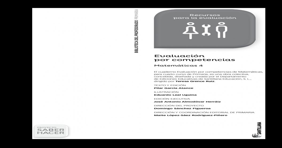 Pin En Evaluacion Matematicas 4 Primaria Santillana Saber Hacer