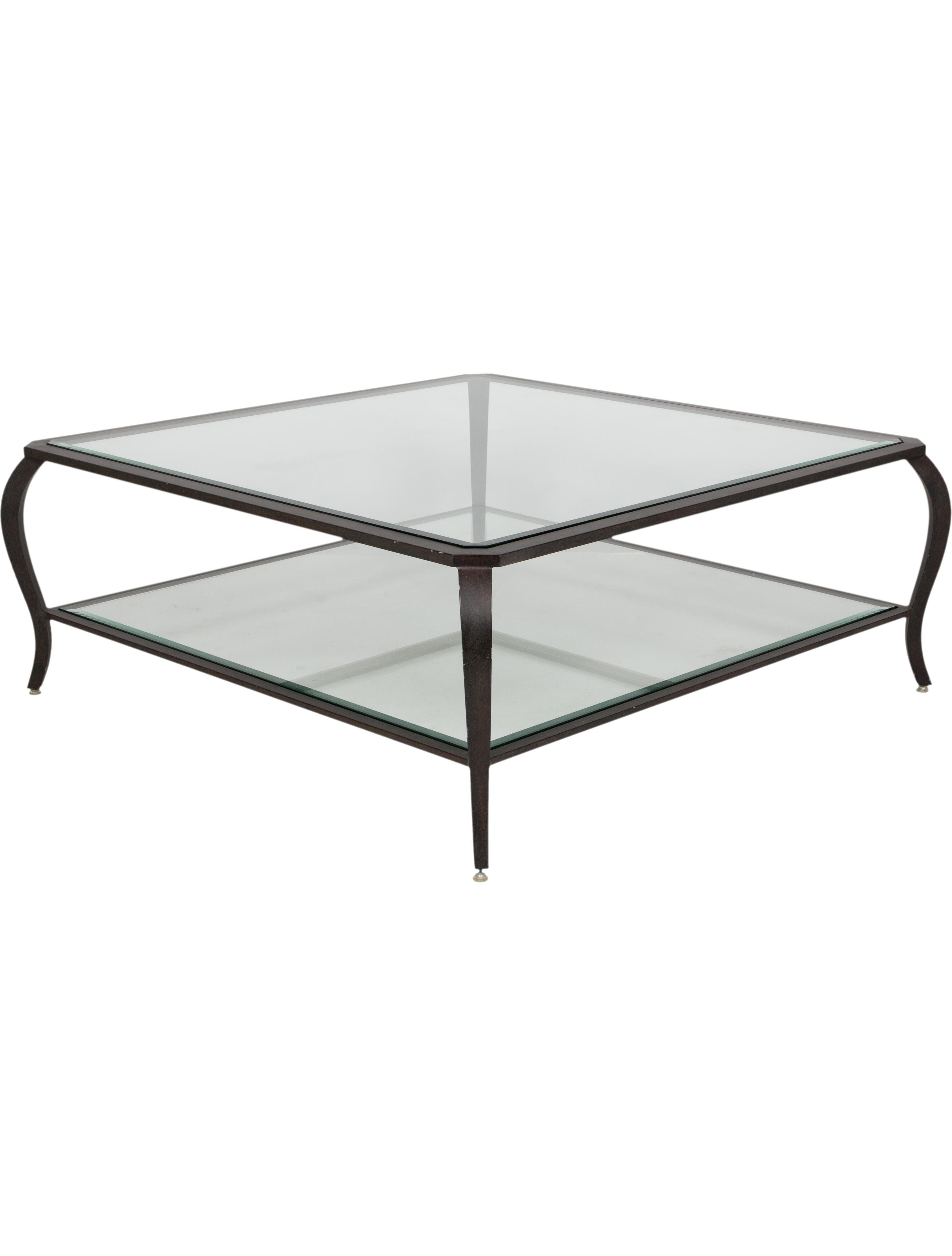 Tiered Glass Coffee Table Coffee Table Oversized Coffee Table