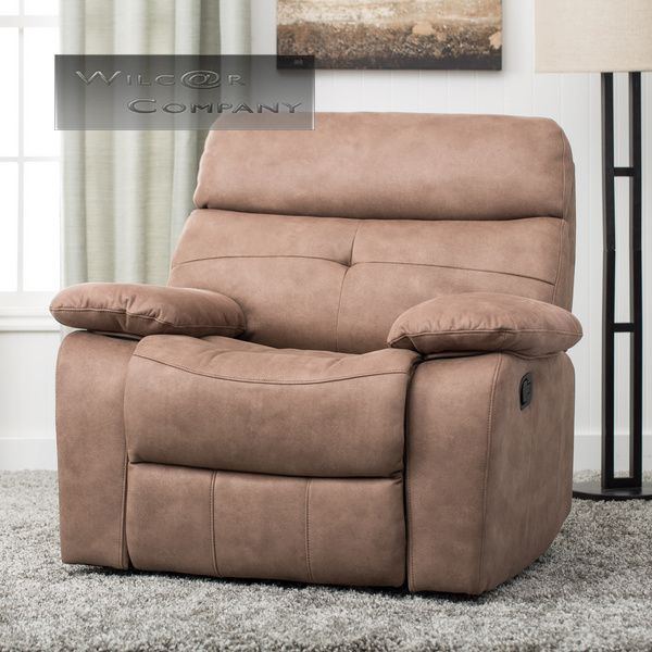 New Beige Leather Recliner Lazy Boy Chair Furniture Barcalounger