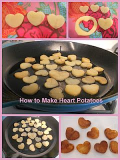 Heart shaped potatoes, for Valentine's Day