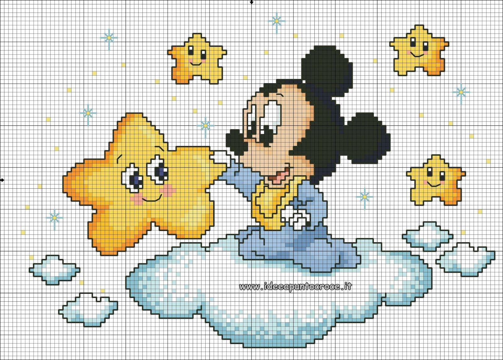 Schemi Disney A Punto Croce Schemi Baby Minnie E Topolino