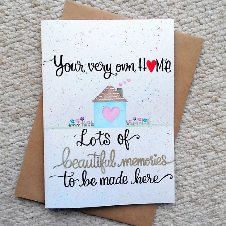 Personalised New home card New house card Congratulations On Your