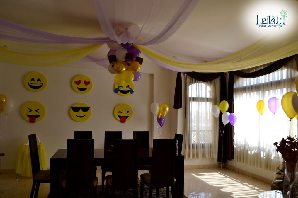 Emoji Decorations for Themed Birthday Party Decorations