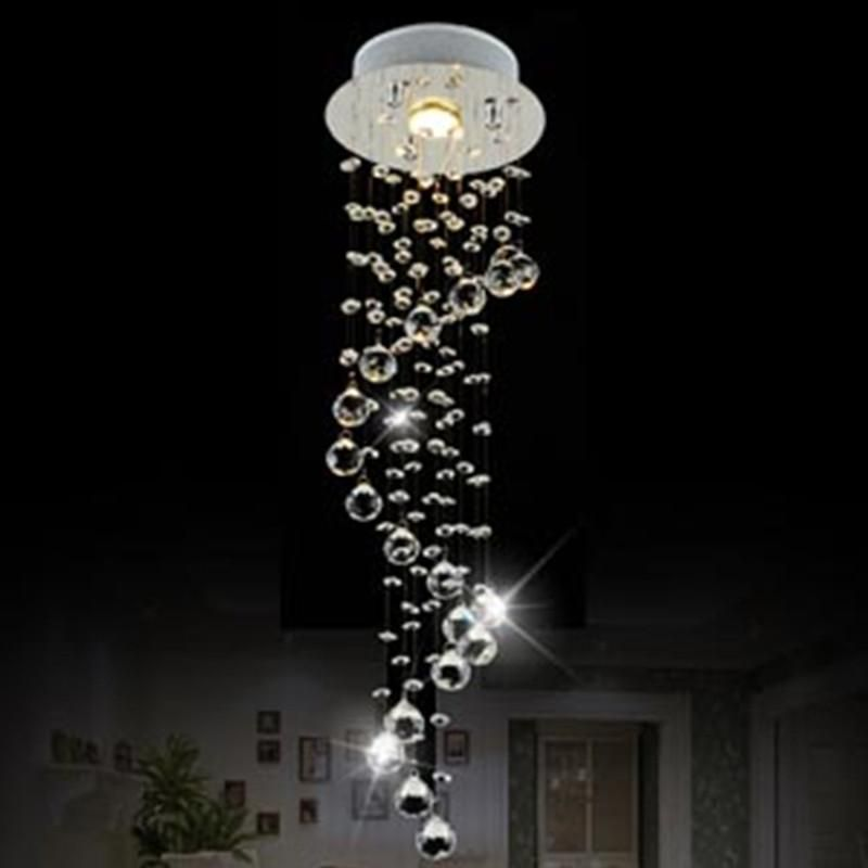 Moderne Clear Waterford Spirale Kugel LED Glanz Kristall - led lampen wohnzimmer