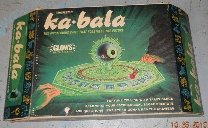 1967 Vintage Transogram Kabala Fortune Telling Game