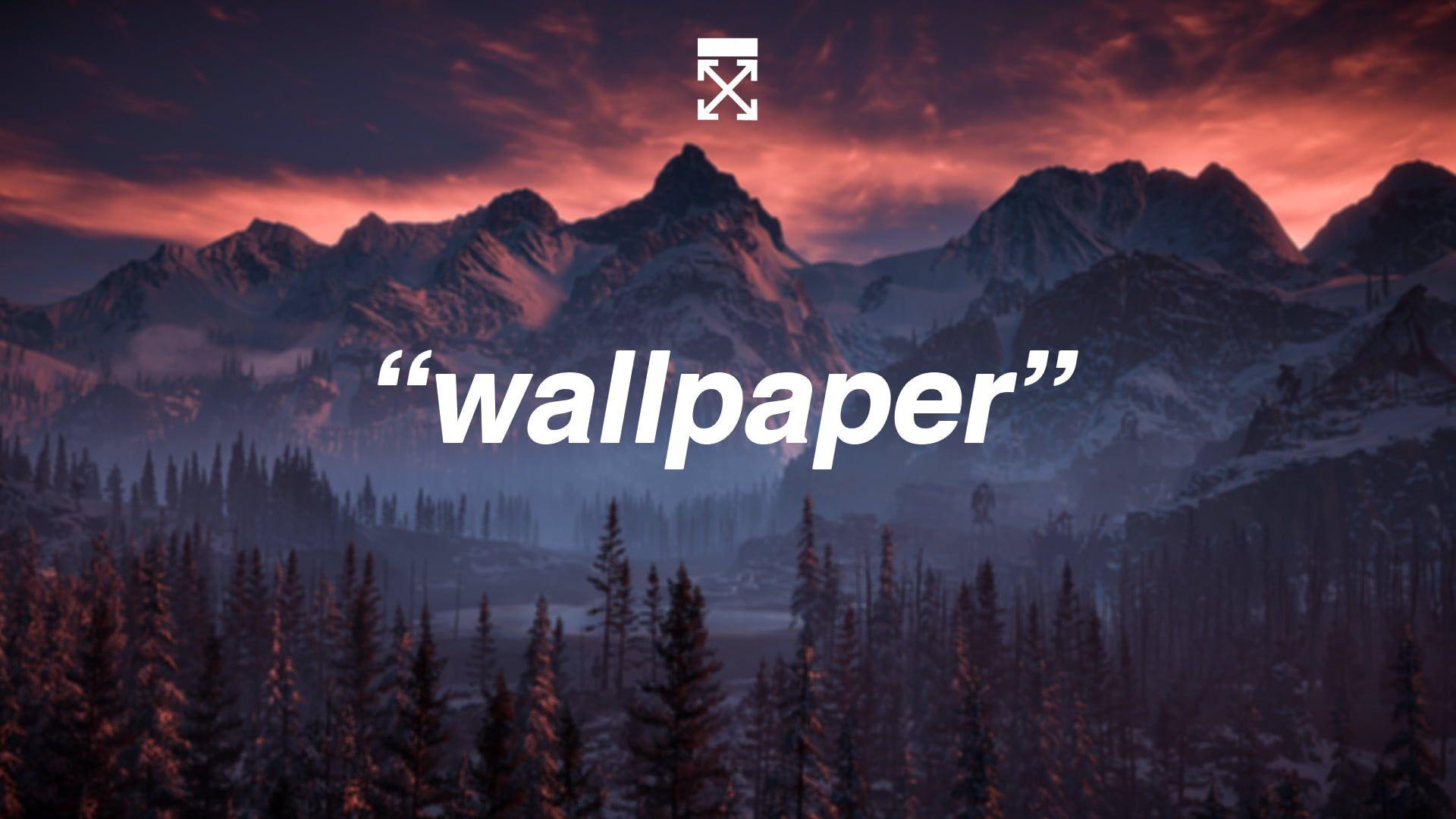Off White Minimalism Mountains 1080p Wallpaper Hdwallpaper Desktop Wallpaper Off White Wallpaper Mountains Wallpaper