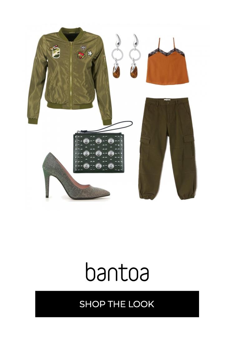 vasta selezione sporco online nuovo aspetto Il top con inserti in pizzo abbinato ai pantaloni con tasconi ...