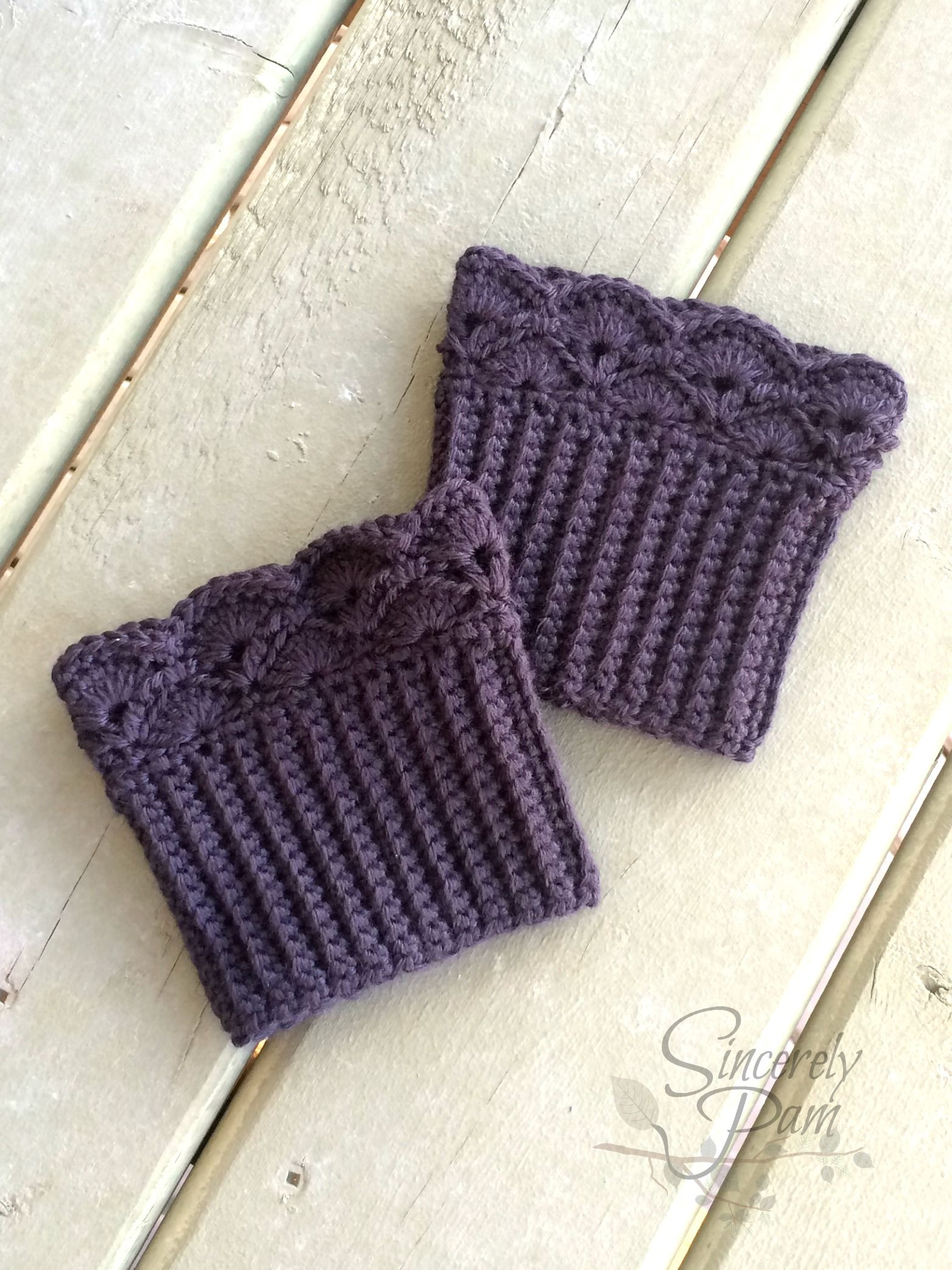 Shelby Boot Cuffs pattern by Sincerely Pam | Pinterest | Tejido ...