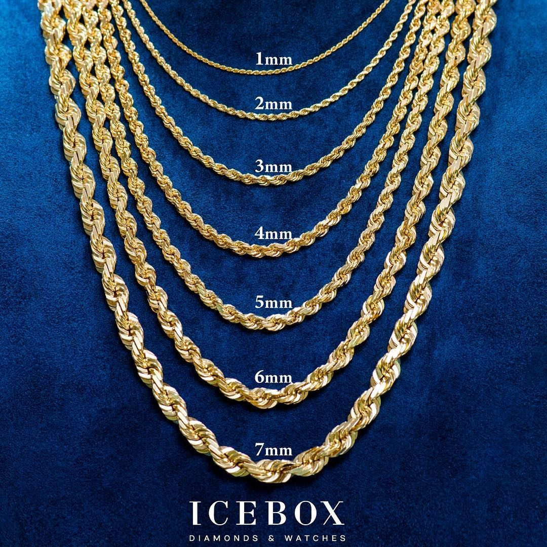 Gold Rope Chains Mm Size Gold Leaf Necklace Chain Necklace Womens Womens Diamond Necklace