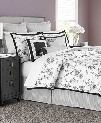 Martha Stewart Collection Dusk Blossom 6 Piece Comforter Sets - Bed in a Bag - Bed & Bath - Macy's