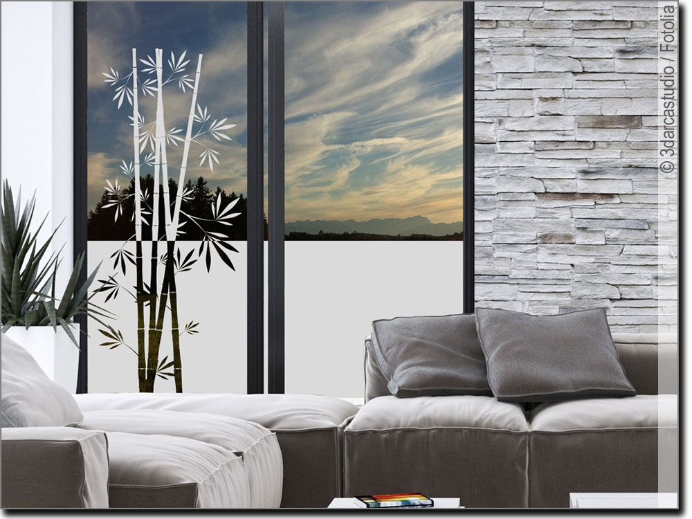 Blickdichte Fensterfolie Bambus Fensterfolie Fenster Sichtschutzfolie