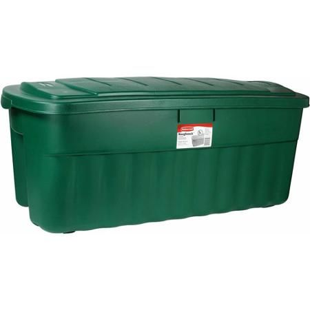 Plastic Christmas Tree Storage Box Enchanting Rubbermaid Roughneck 50Gallon Jumbo Storage Tote For The Christmas Inspiration Design