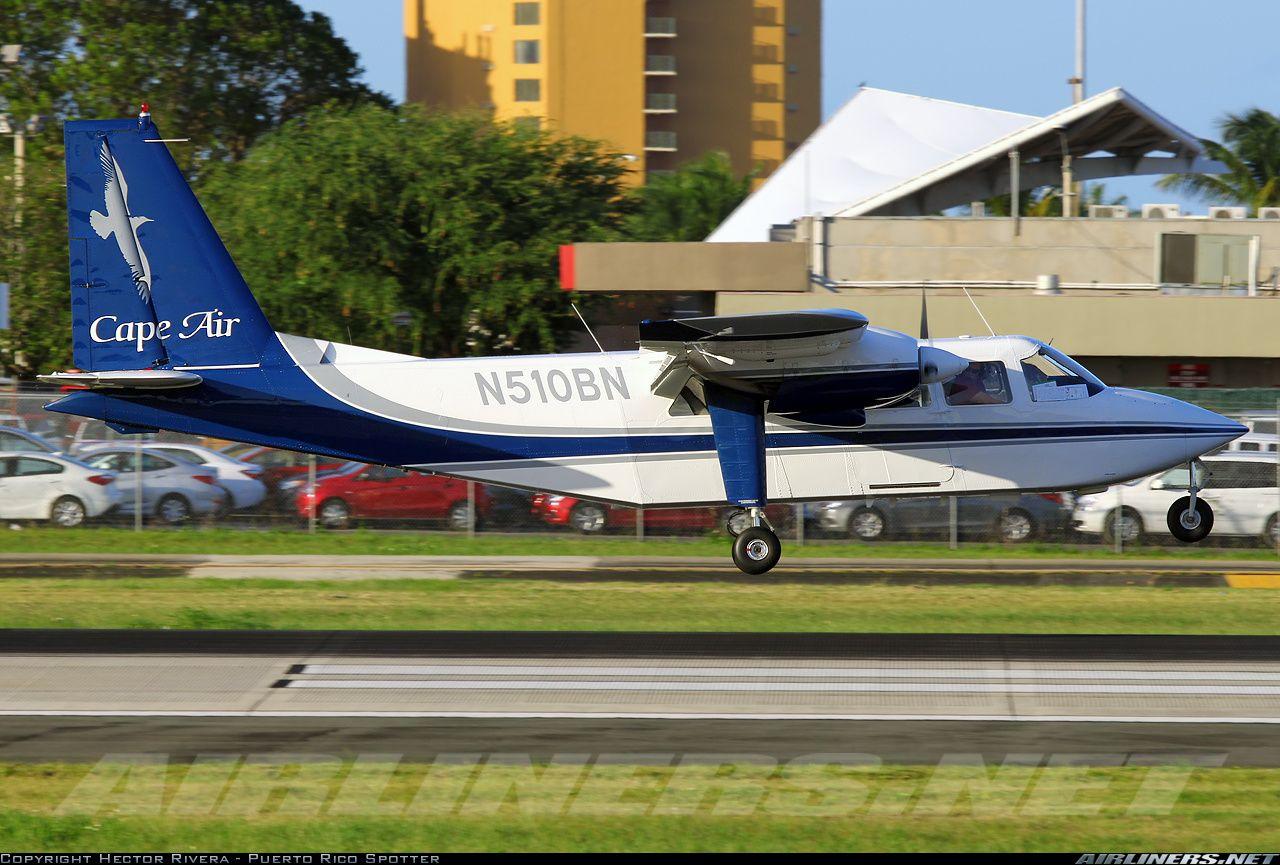 Britten norman as the company s official paint scheme design company - Cape Air Britten Norman Bn 2 Islander San Juan Luis Munoz Marin International