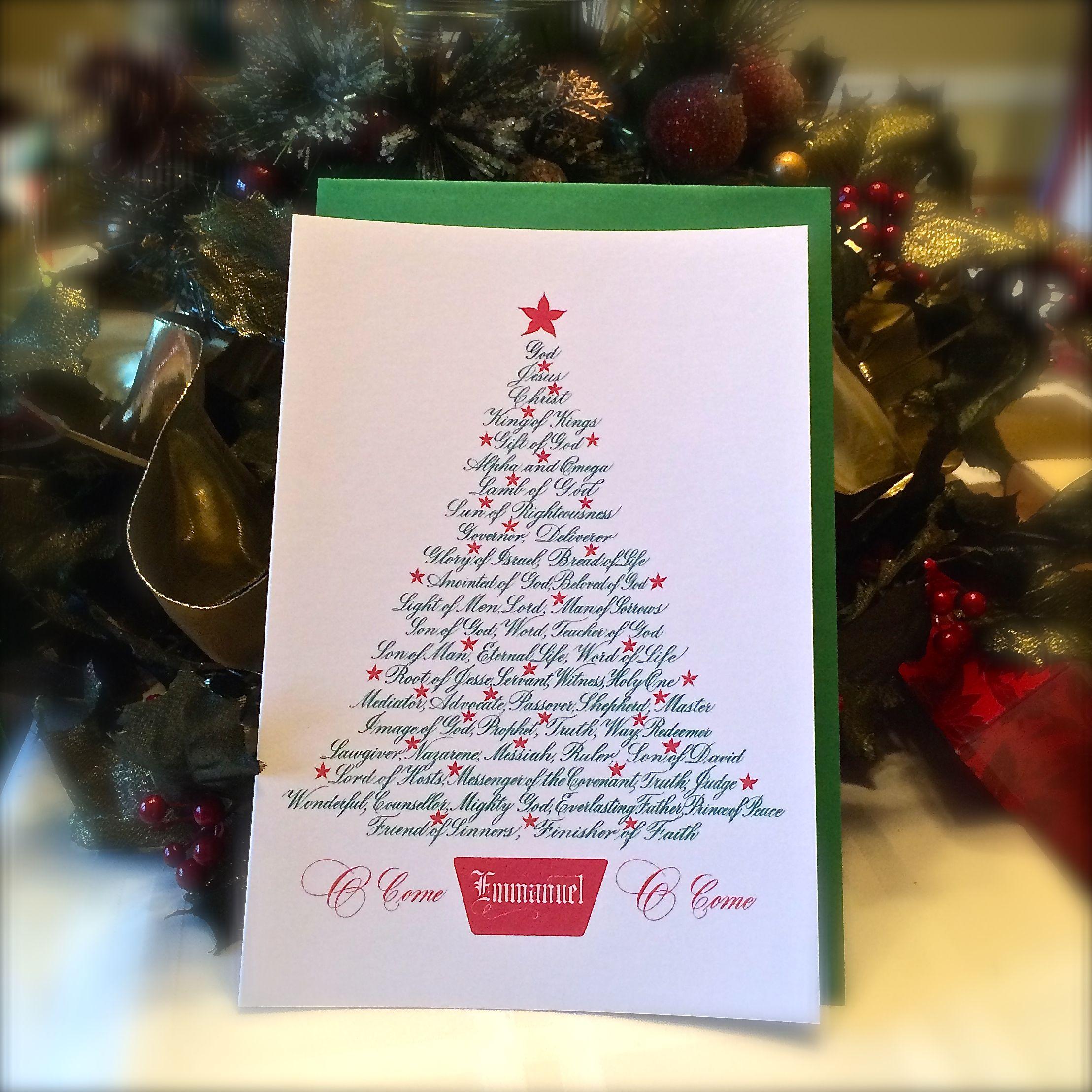 Jesus And Christmas Trees Part - 25: Christmas Tree-Names Of Jesus