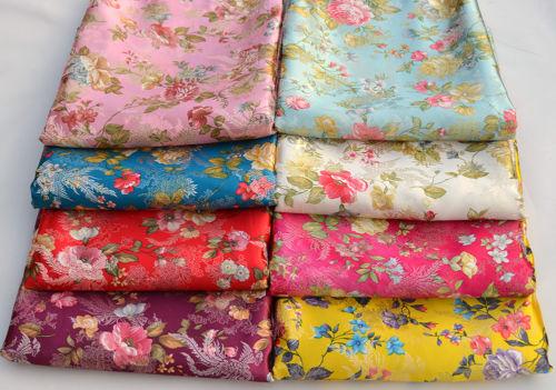 Phoenix Flower Chintz 72cm Wide China Retro Silk Damask Jacquard Brocade Fabric Ebay Brocade Fabric Fabric Shops Online Damask