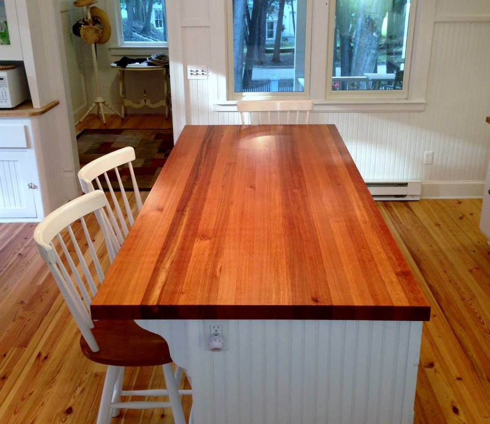 Stained Antique Heart Pine Wood Countertops Counter Tops Granite Garage