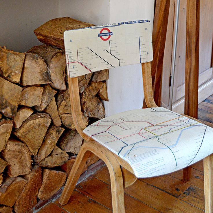 How to Make Personalised Map Chairs Decoupage