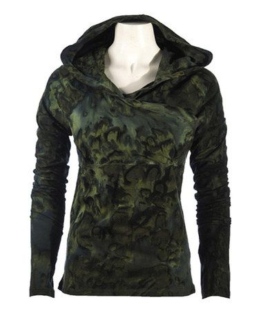 Take a look at this Hunter Green Lattice Hoodie by Ojai Clothing on #zulily today! $40 !!