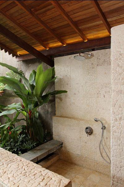 Banheiro com Jardim de Inverno Salle de bain - Douches - Douches