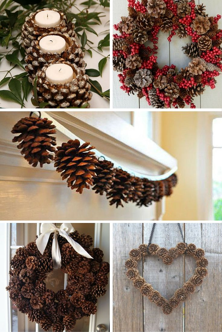 christmas craft ideas pine cones