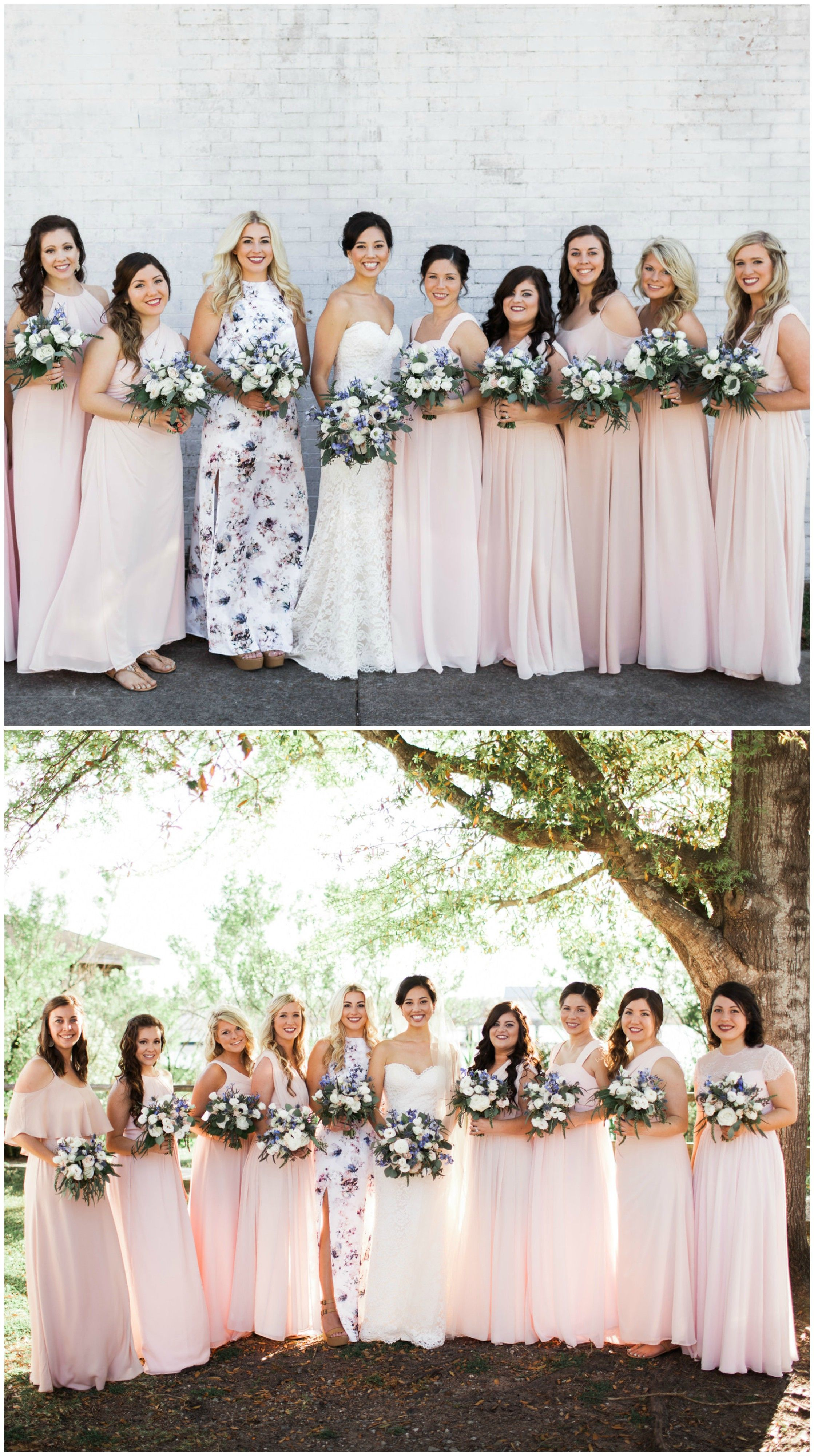 Pastel pink bridesmaid dress  The Smarter Way to Wed  Pinterest  Bridal parties Maids and Weddings