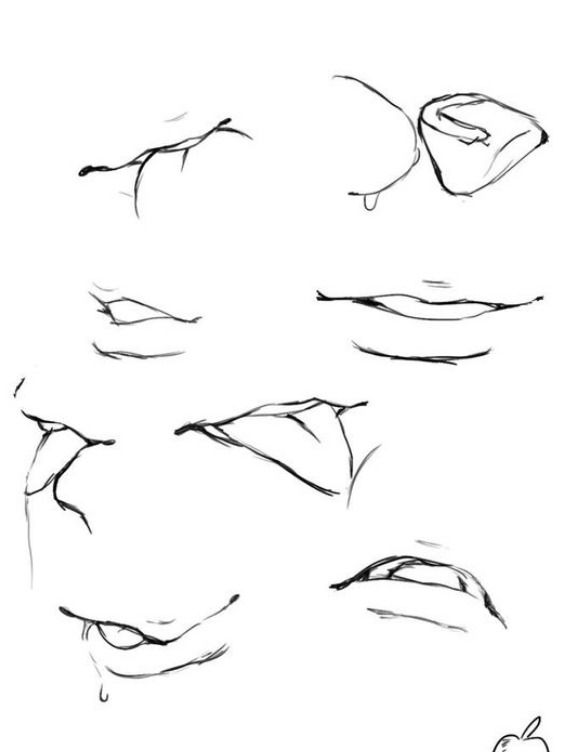 How To Draw An Anime Mouth : anime, mouth, ѕωєєтυƙƙι.」🍓, Anime, Mouths,, Mouth, Drawing,, Drawing