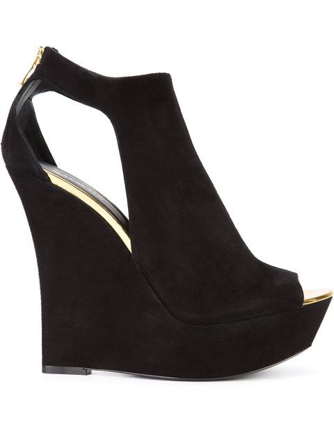 black leather wedges open toe