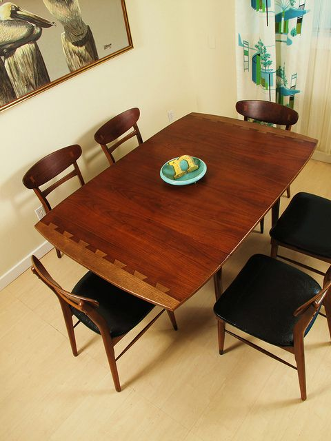 Mid Century Modern Lane Acclaim Dining Table and Chairs | Furniture ...