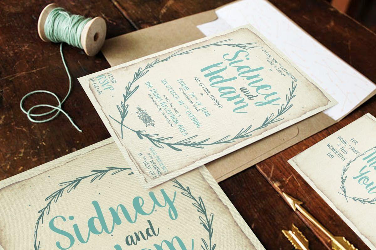 Print templates Rustic Wreath Wedding Package