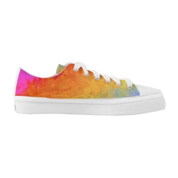 893207187749 Rainbow bright colorful gradient pattern Low-Top sneakers ( 95) ❤ liked on  Polyvore featuring shoes