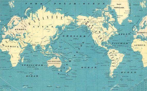 World map printable digital downloadntage world map old maps world map printable digital downloadntage world map old gumiabroncs Image collections