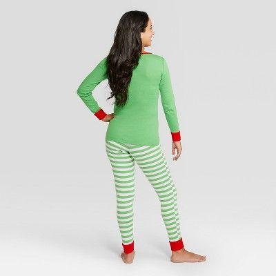 Women s Holiday Elf Pajama Set - Wondershop Green XS  313901ff0