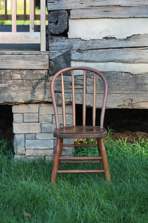 Small Wooden Chair Home Theatre Chairs Perth Antique Wood Old Childrens Kids Child Vintage Furniture Rustic Country Decor Wedding Office