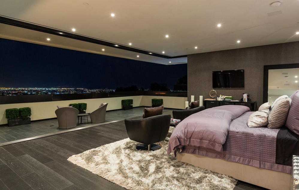 55 million dollar master bedroom with view of los angeles sweet rh pinterest com