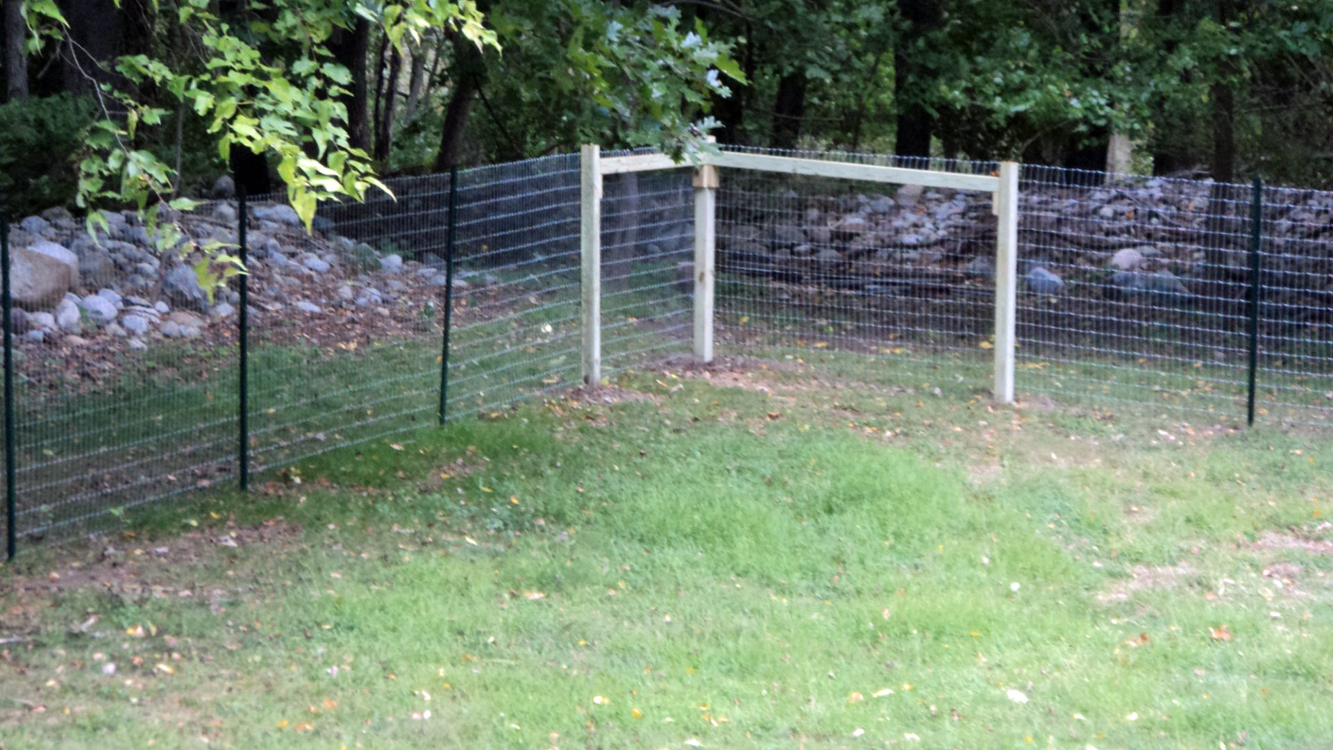 Corner brace built into the corner of this no climb fence for ...