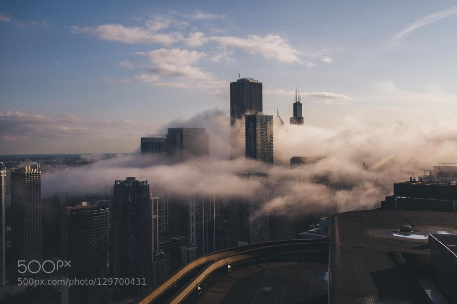 Rolling Fog in Chicago by skateorialist