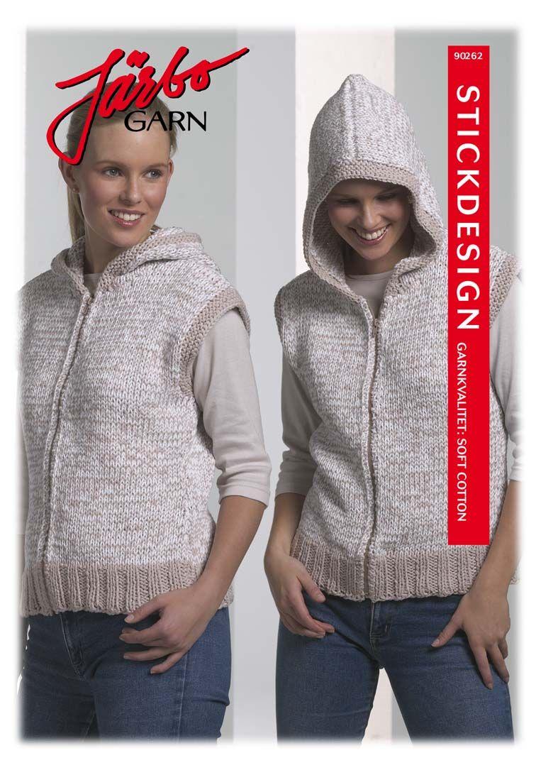 Knitted hoodie vest.