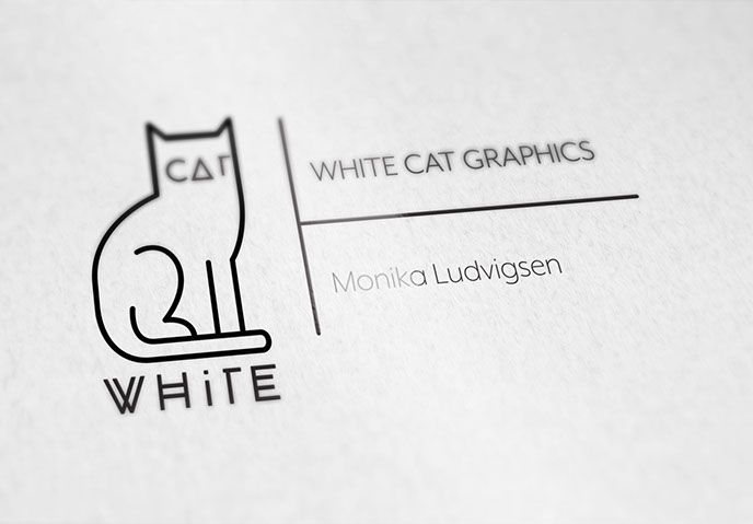 White Cat Graphics logo design.