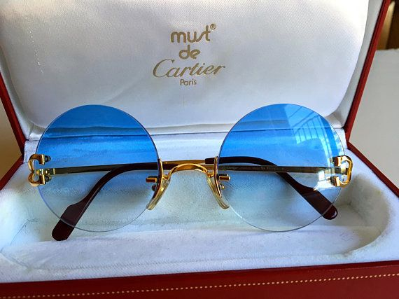 Vintage Cartier Madison Rimless C Decor Sungles Made In France