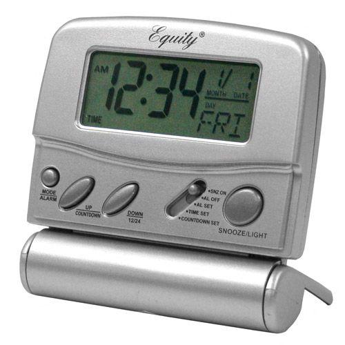 Equity By La Crosse Folding Travel Alarm Clock - Walmart com
