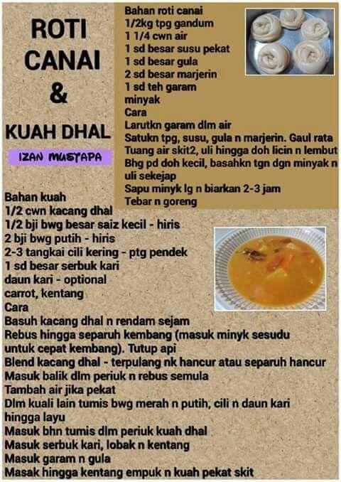 Roti Canai Kuah Dhall Roti Canai Recipe Cooking Recipes Roti