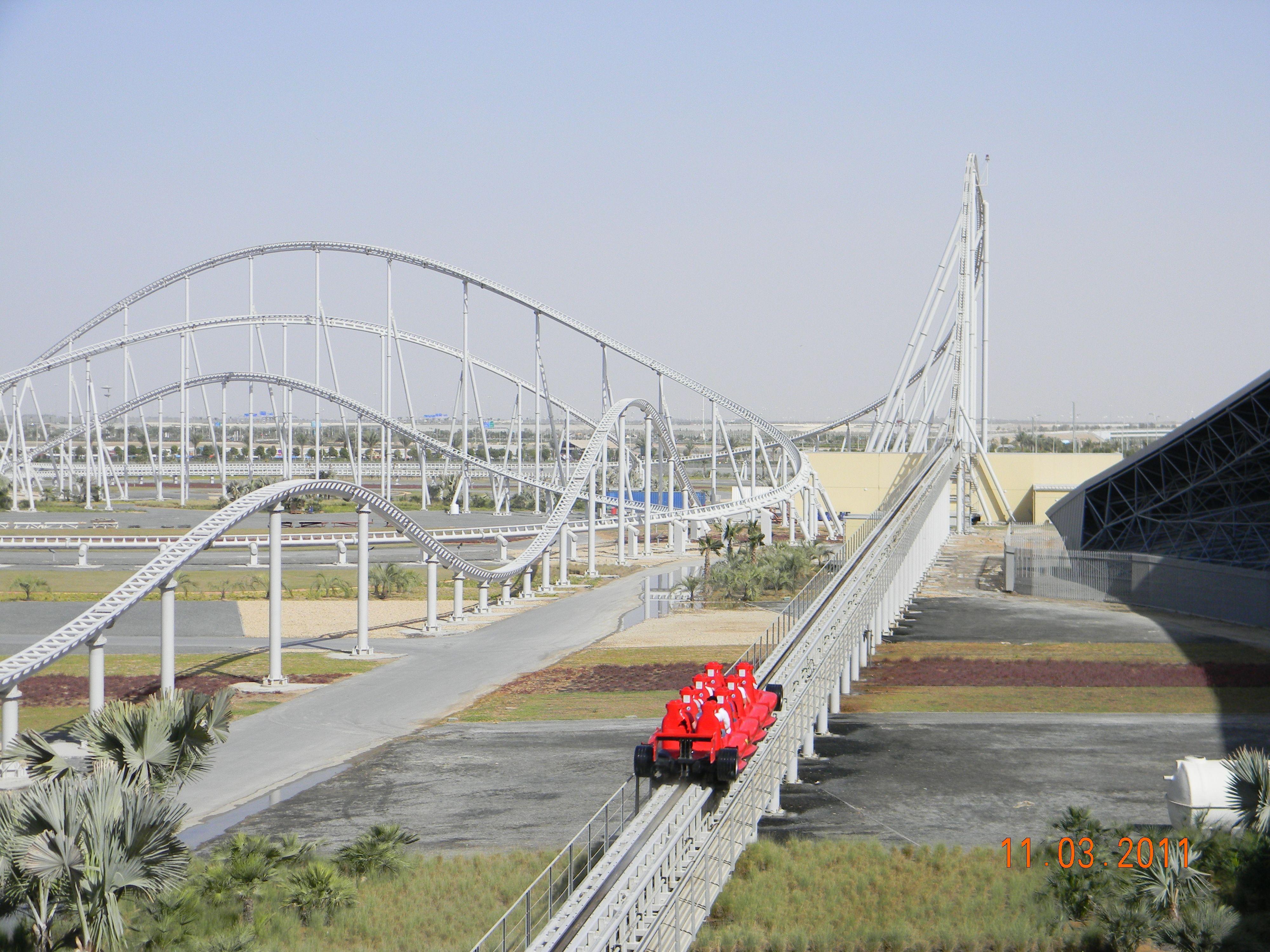 Formula Rossa At Ferrari World Abu Dhabi Park In Abu Dhabi United
