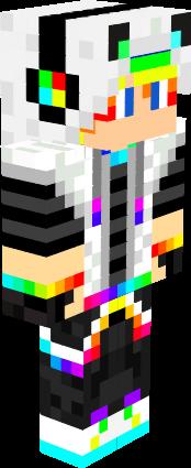 Rainbow Wolf Boy Nova Skin Minecraft Skins Boys Rainbow